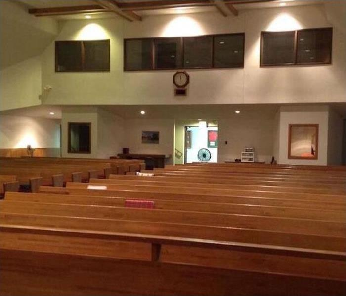 Commercial Water Damage – Nashua Church After