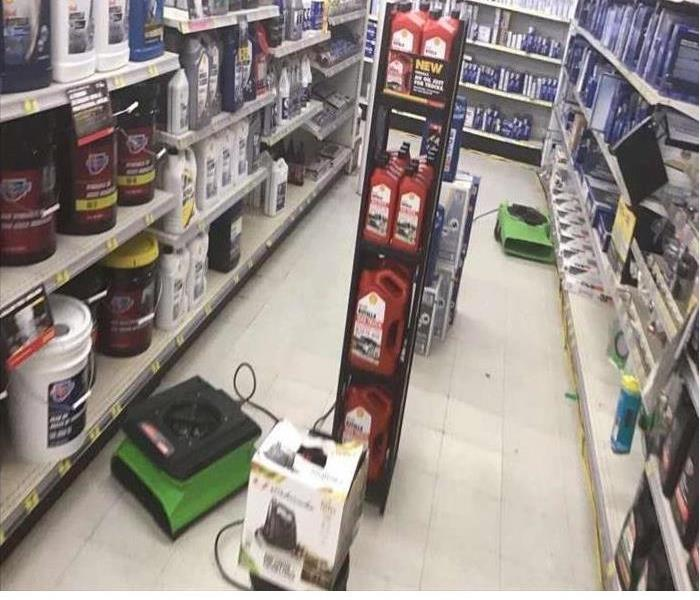 Air movers be used to clean a store floor
